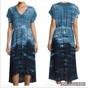XCVI Griffin Tie Dye Drawstring Hi Lo Dress